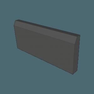 Бордюр-65, темно-коричневый